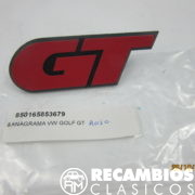 165853679 ANAGRAMA VW GOLF GT ROJO