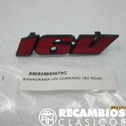 535853679C ANAGRAMA VW CORRADO 16V ROJO