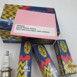 8500846 BUJIA ROSCA SEAT-600 SEAT-1400 MARELLI ROSCA CORTA (UNIDAD)