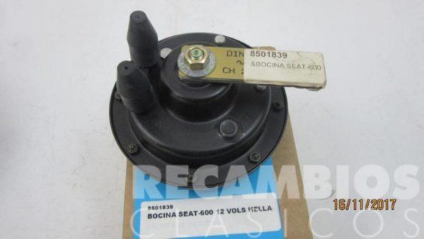 8501839 BOCINA SEAT-600 12 VOLS (HELLA) CLASICA - 2