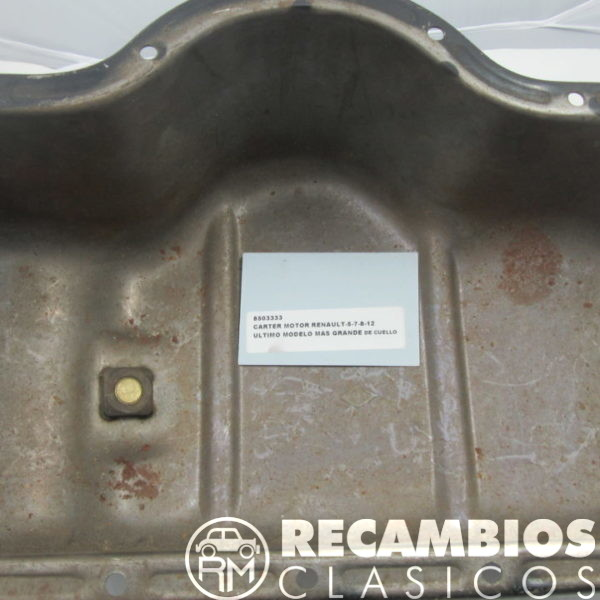 8503333 CARTER MOTOR RENAULT-5-7-8-12 ULTIMO MODELO CUELLO GRANDE 2