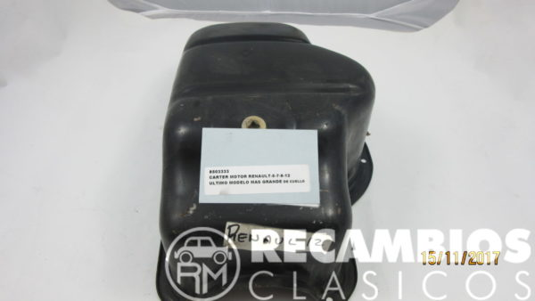 8503333 CARTER MOTOR RENAULT-5-7-8-12 ULTIMO MODELO CUELLO GRANDE