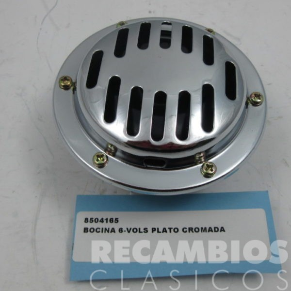 8504165 BOCINA 6-VOLS PLATO CROMADA