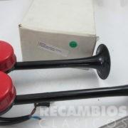 8506735 BOCINA ELECTRICA 12-VOLS 2-TROMPETAS COCHE CAMION