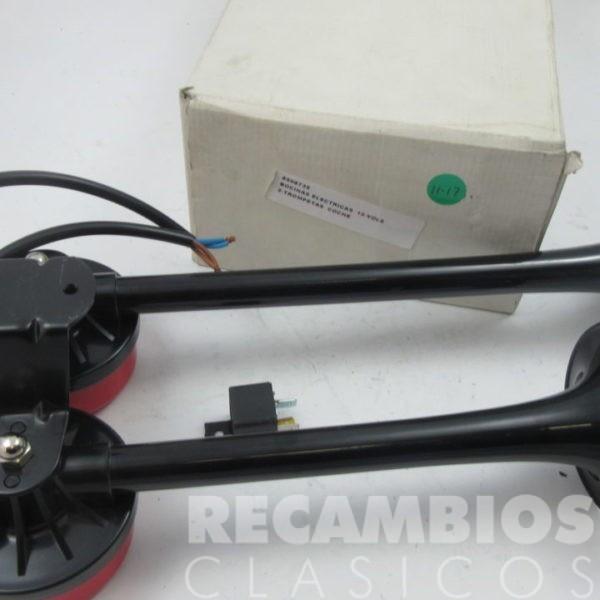 8506735 BOCINA ELECTRICA 12-VOLS 2-TROMPETAS COCHE CAMION C