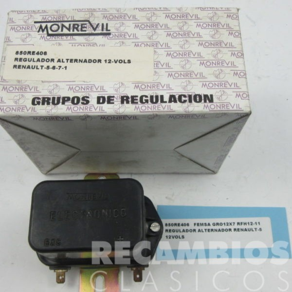 850RE406 REGULADOR ALTERNADOR RENAULT-5 GRO12X7 RFH12-11 12-VOLS (nuevo)