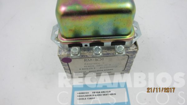 850RM101 REGULADOR DINAMO SEAT-600-N 12-VOLS 13-Amp GRC-12-8 (nuevo) 2