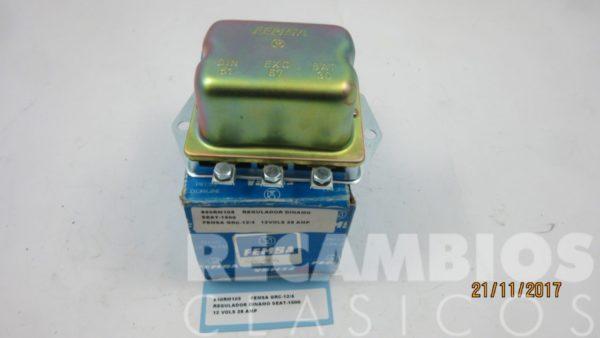 850RM105 REGULADOR DINAMO SEAT-1500 12-VOLS 28AMP GRC-12-4 12-VOLS 28AMP (nuevo) C