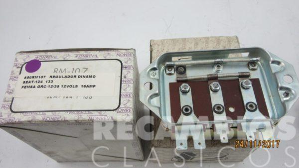 850RM107 REGULADOR DINAMO SEAT-124 133 GRC12-35 12VOS 16AMP C