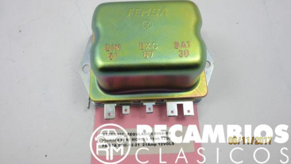 850RM108 REGULADOR DINAMO NORRIS MINI MORRIS-1100 1300 FEMSA CRC12-21 21Amp 12Vols