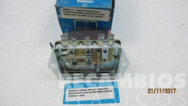 850RM111 REGULADOR DINAMO LAND-ROVER EBRO GRC12-42 12-VOLS 21-AMP C