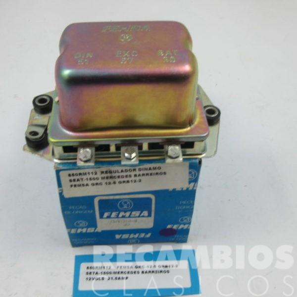 850RM112 REGULADOR DINAMO SEAT-1500 BARREIROS MERCEDES GRC12-5 GRB12-2 12VOLS 21.5 AMP (NUEVO)