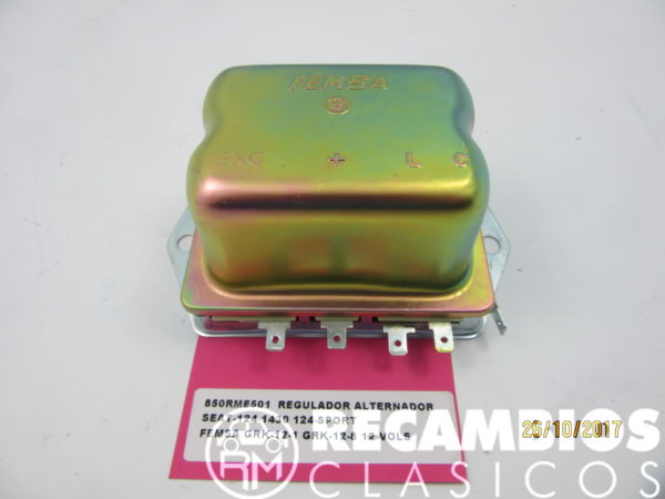 850RME501 REGULADOR ALTERNADOR SEAT-124-1430 124 SPORT 132 FEMSA GRK12-11 12-8 12Vol