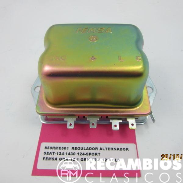 850RME501 REGULADOR ALTERNADOR SEAT-124-1430 124 SPORT 132 FEMSA GRK12-11 12-8 12Vol