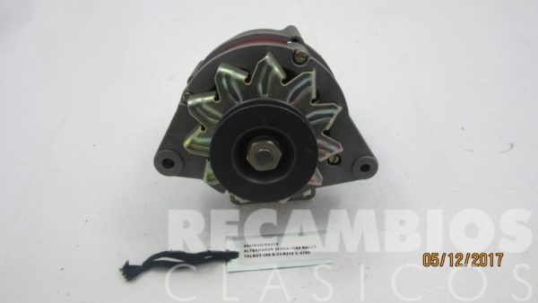 8502943LRA233 ALTERNADOR SIMCA-1000 RALLY A-13-R215 50AMP