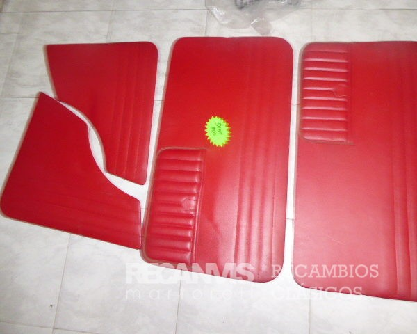 8500941R TAPIZADOS PUERTA SEAT-850 ROJO
