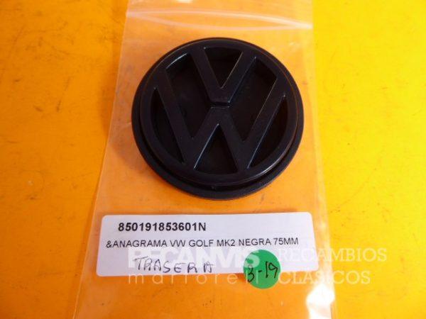 850 191853601N ANAGRAMA GOLF MK2 TRA NEGRA