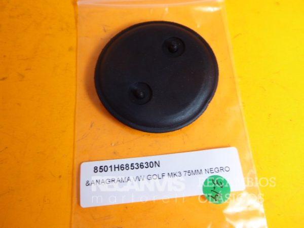 850 1H6853630N ANAGRAMA GOLF MK3 NEGRA 75mm (2)