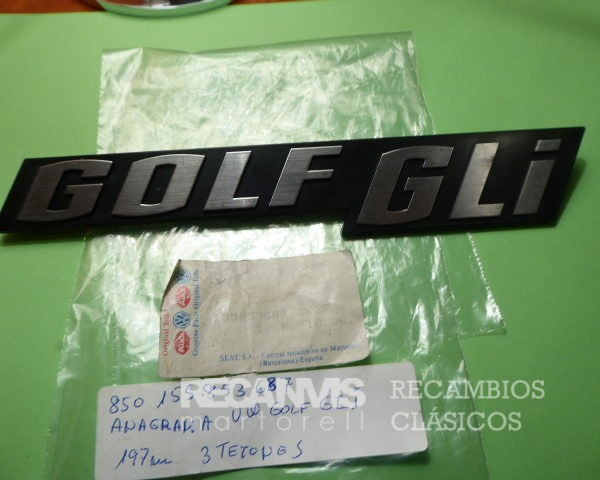 850 15585387 ANAGRAMA GOLF-GLI 197mm