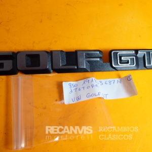 850 191853687H ANAGRAMA VW GOLF GT