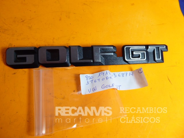 850 191853687H ANAGRAMA VW GOLF GT