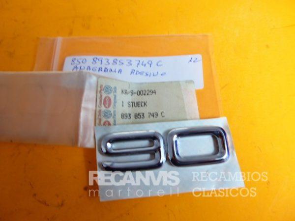 850 893853749C ANAGRAMA AUDI 90