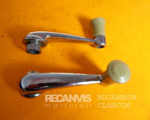8502042N MANETA MANILLA ALZACRISTALES SEAT-600-D-E-L POMO NEGRO