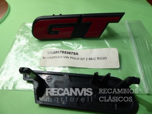 VAG 867853679A ANAGRAMA VW POLO GT 2