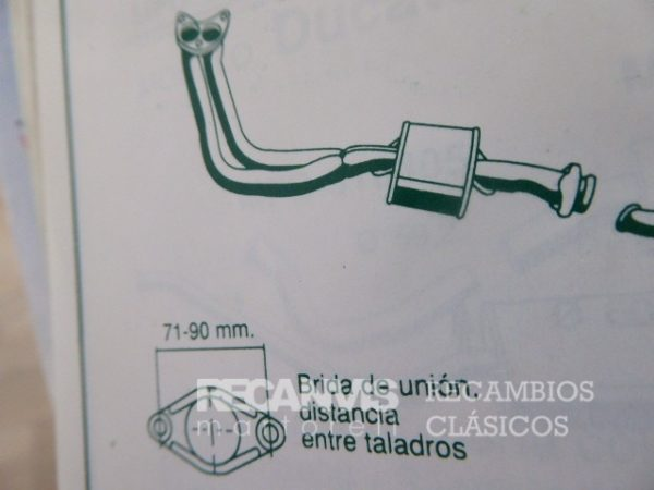 850F6129115 COLECTOR FORD FIESTA 1.4